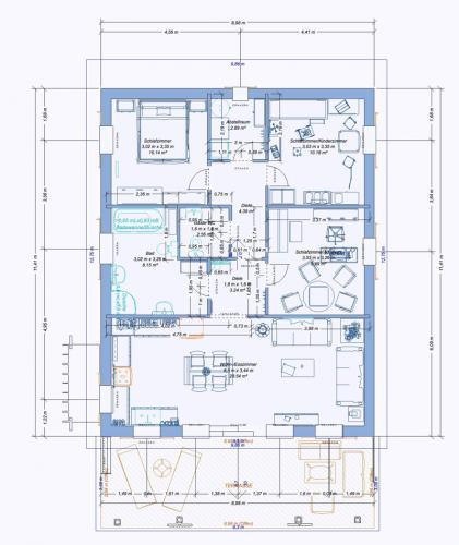 2D-Haus-3-34-cm-Wand